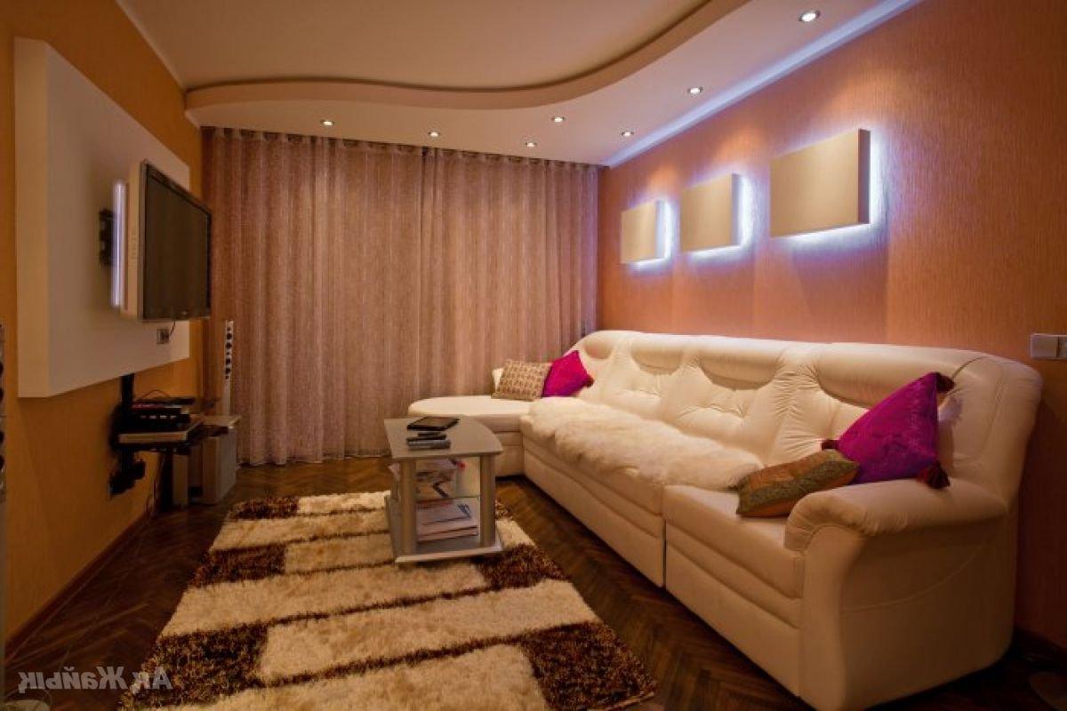 Ремонт в маленькой гостиной фото