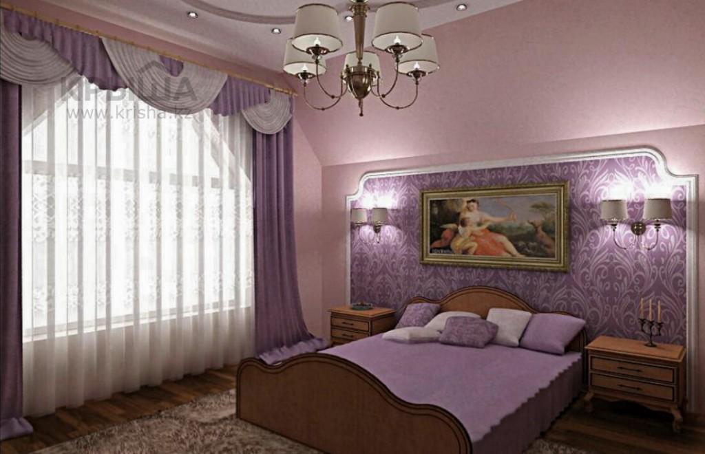 Отделка спальни обоями фото