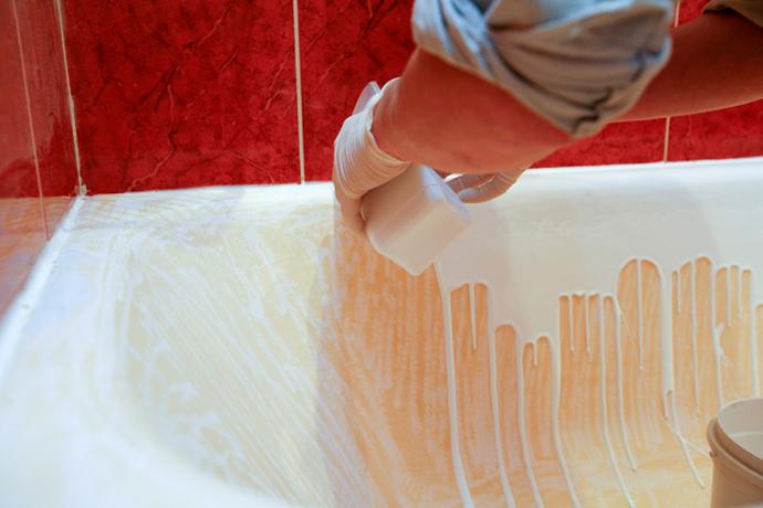 Ремонт покрытия ванной своими руками