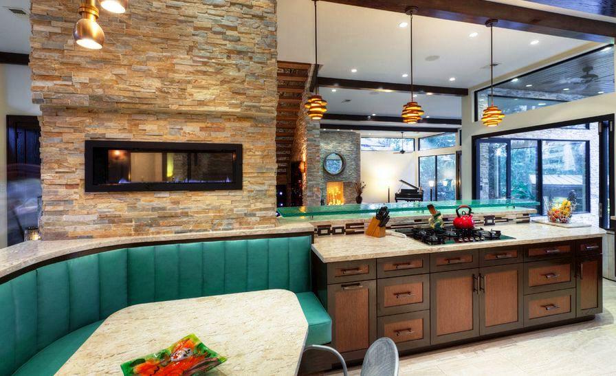 Стены на кухне панели фото