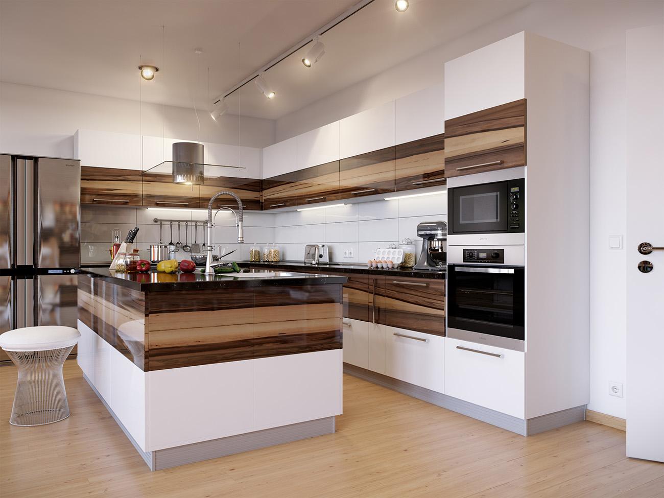 Современные кухни в интерьере фото