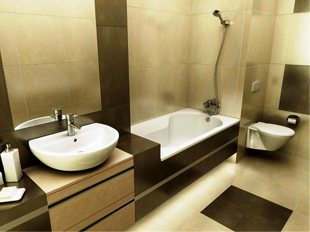 Современный дизайн маленькой ванной