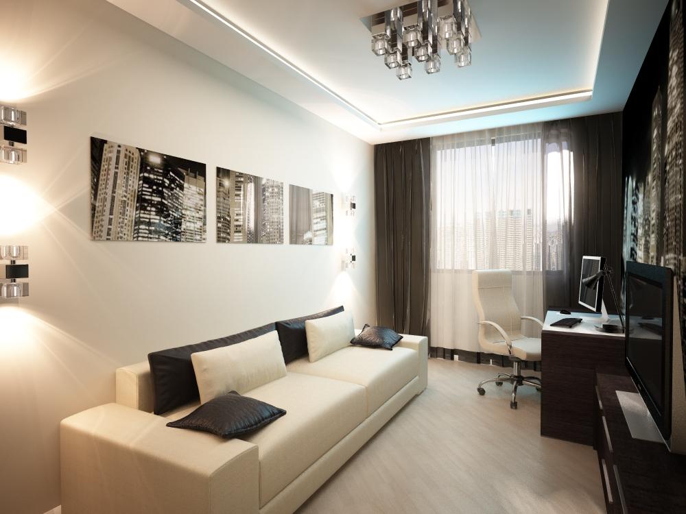Дизайн комнаты 14 кв.м для молодого человека