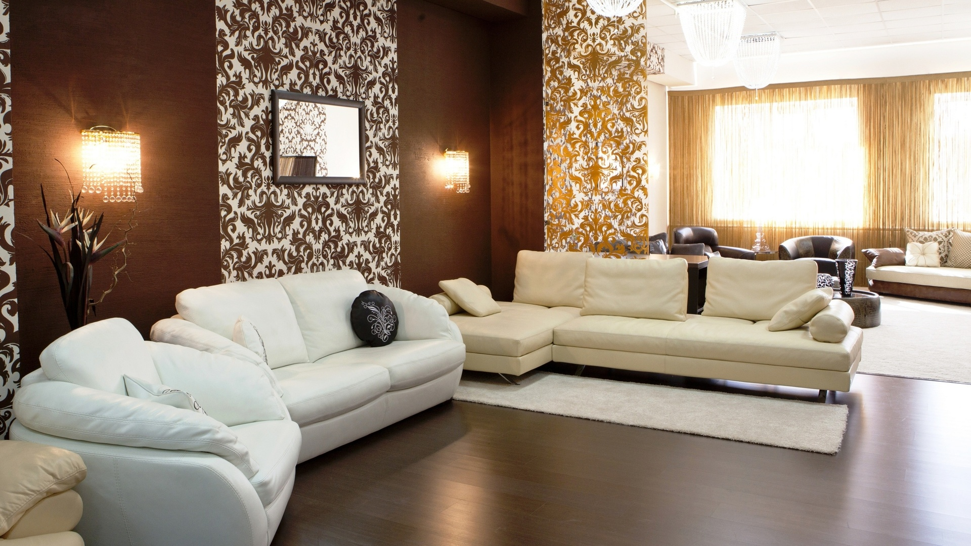 Идеи для гостиной собоями
