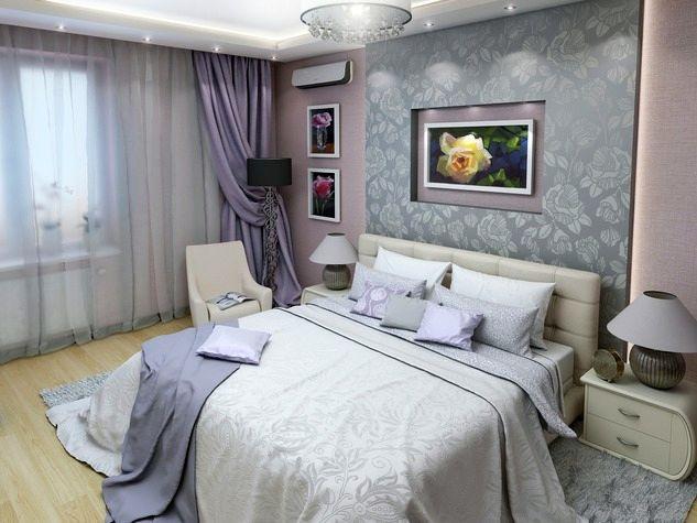 Спальня в сером цвете фото дизайна