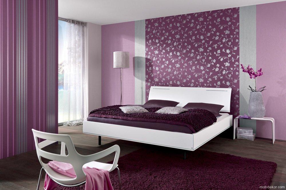 Дизайн спальни фото фиолетовый