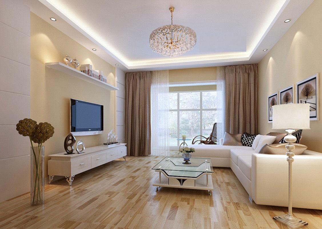 Дизайн гостинной с бежево
