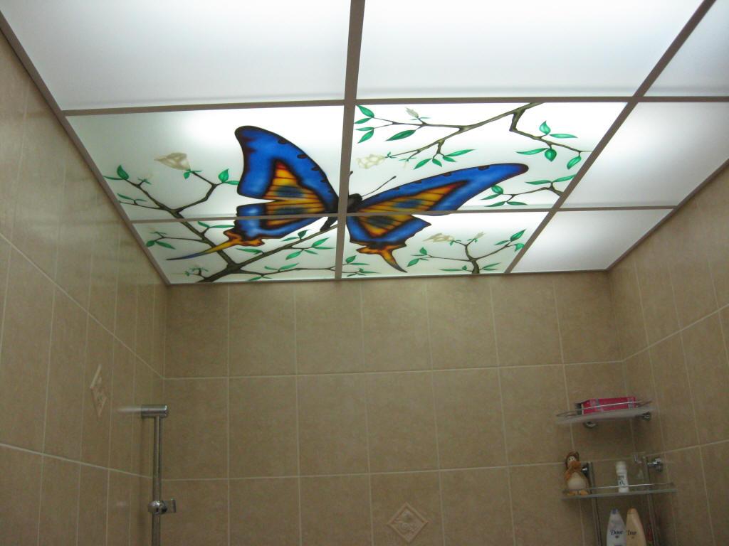 Как свои руками потолок в ванной 820