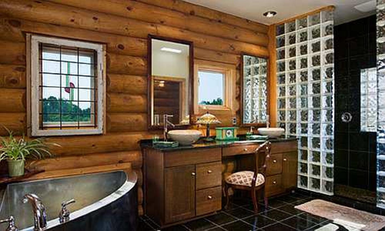 Дизайн ванной комнаты в деревянном доме своими руками