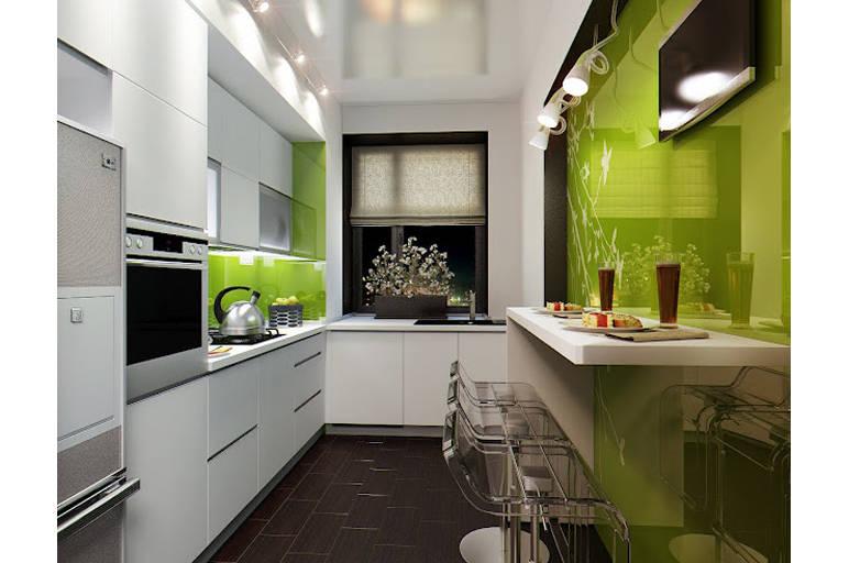 Кухни длинные дизайн