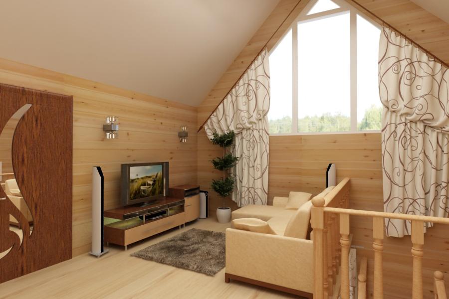 Дизайн интерьеров домов с мансардой