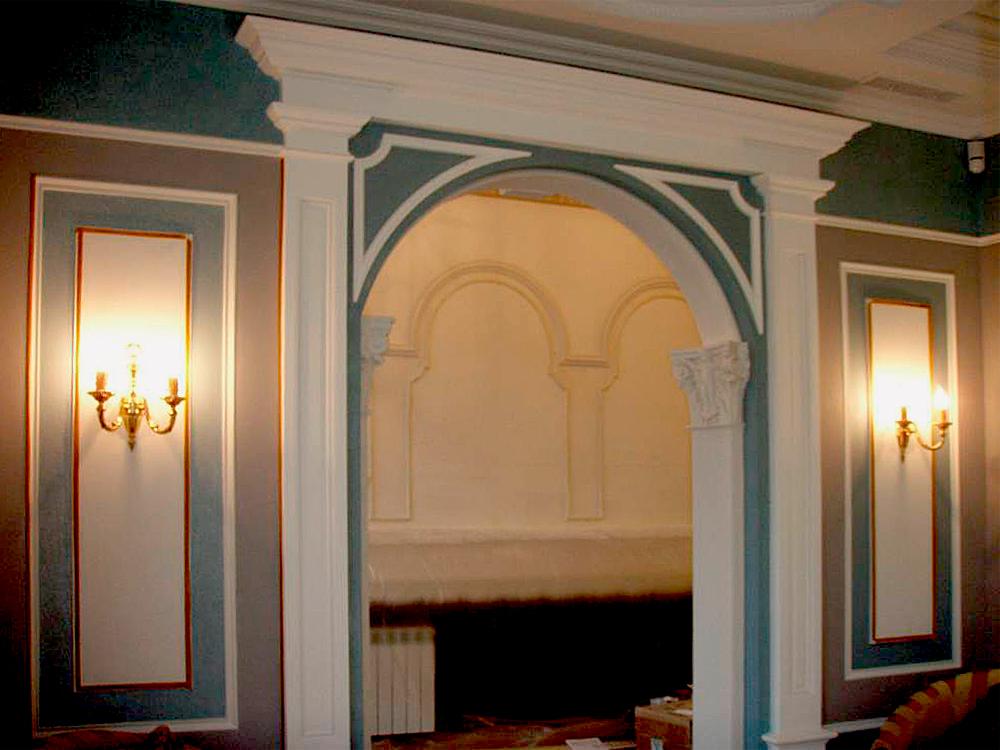 арки с лепниной на кухне Консультирование
