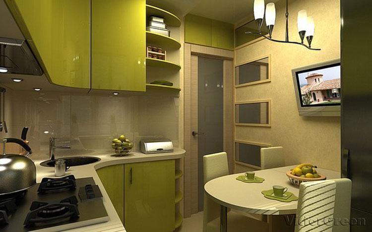 Кухня 2х4 метра дизайн