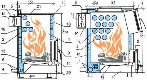 Схема котла на твердом топливе схема
