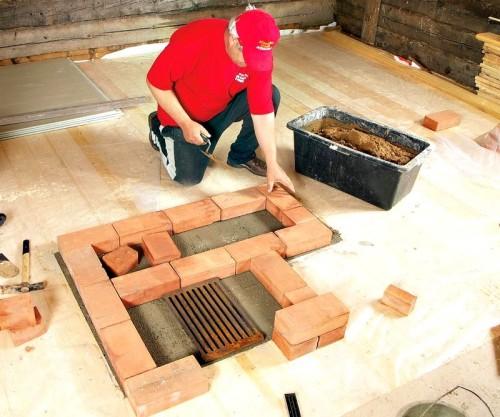 Обложить металлическую печь в бане кирпичом
