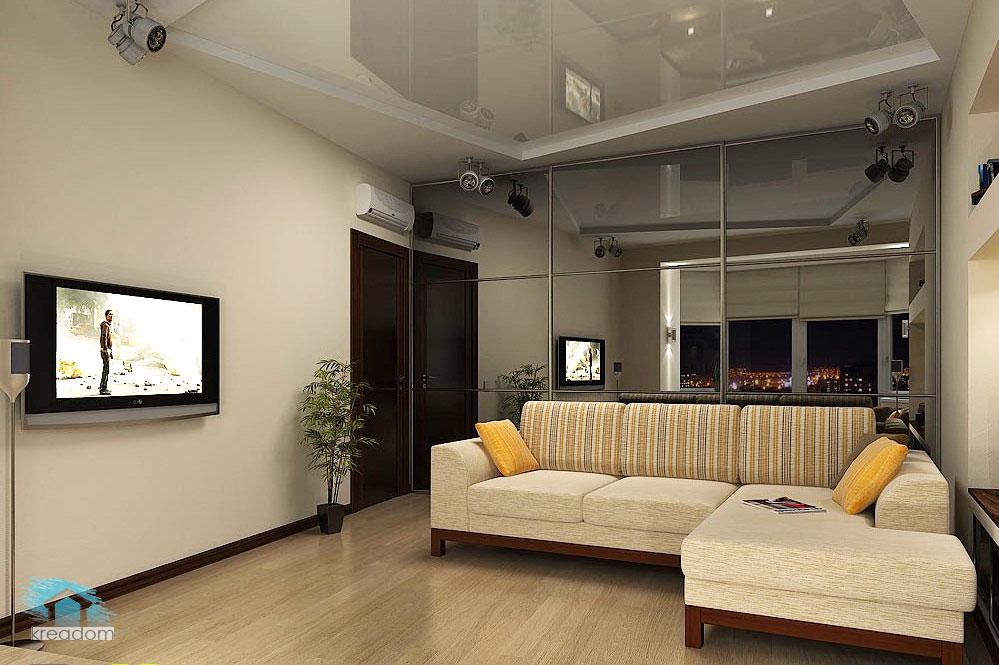 Дизайн зала в хрущевке 18 кв.м-фото