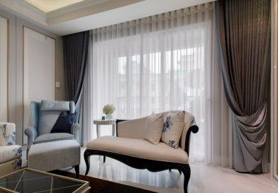 Фото красивых штор в гостинной