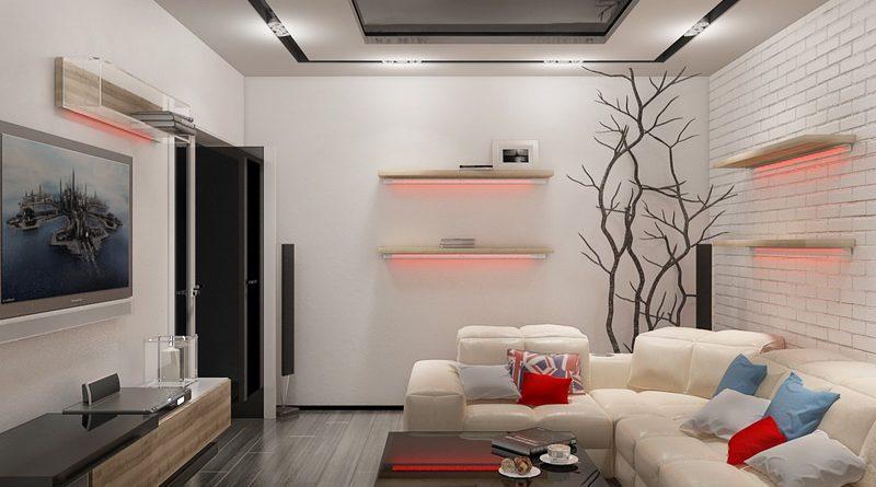 гостинные ремонт фото в обычной квартире 18 кв м фото