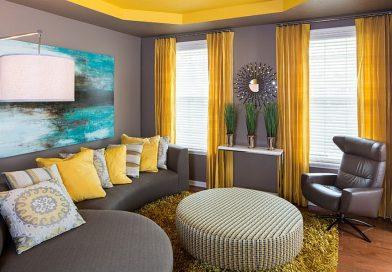 Дизайн зала обои, шторы интерьер мебели: только фото
