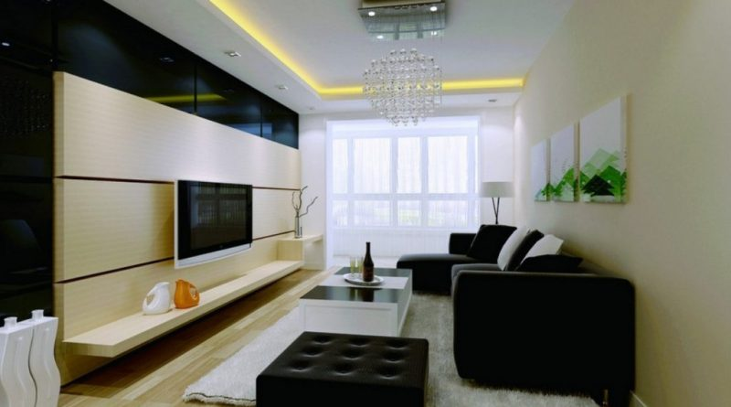 Интерьер гостиной комнаты современном стиле эконом класса: 50 фото