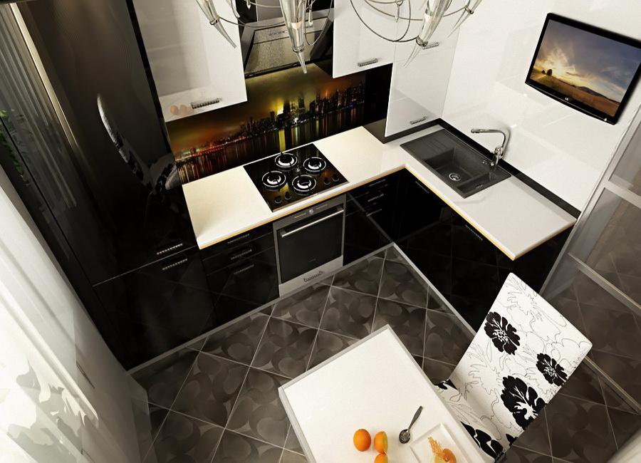 Современная кухня дизайн на 6 кв метров