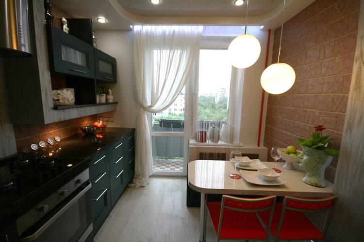 Кухня 8 м2 с выходом на балкон планировка и дизайн