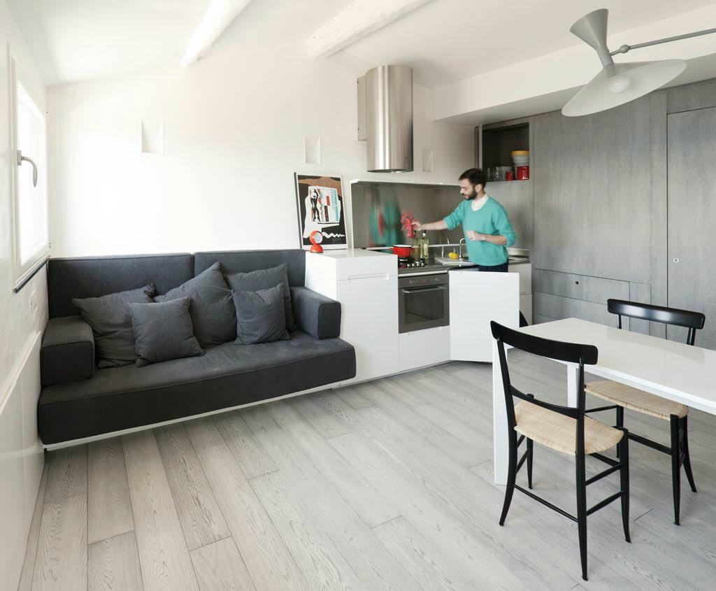 Квартира студия 30 квм дизайн