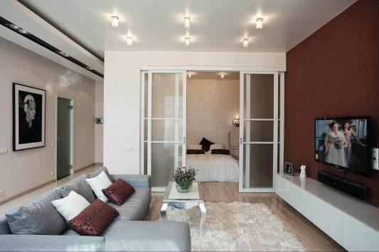 дизайн однокомнатной квартиры 30 кв м фото в современном стиле