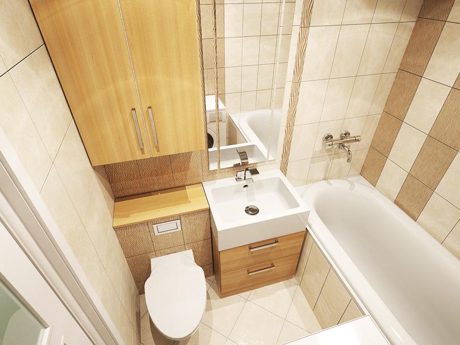 Интерьер ванны и туалета 4 кв м фото
