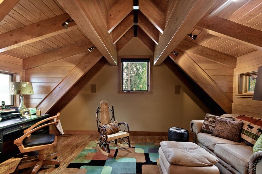 Дизайн мансардных комнат своими руками
