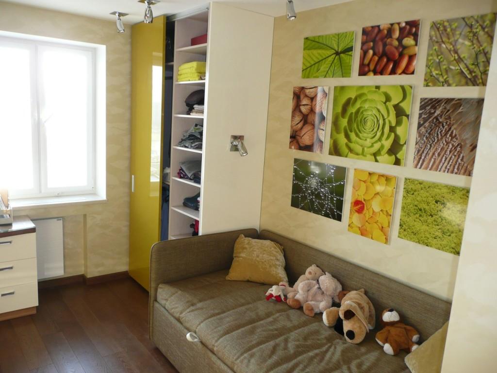 Дизайн однокомнатной квартиры. Фото интерьера 1 комнатных 37