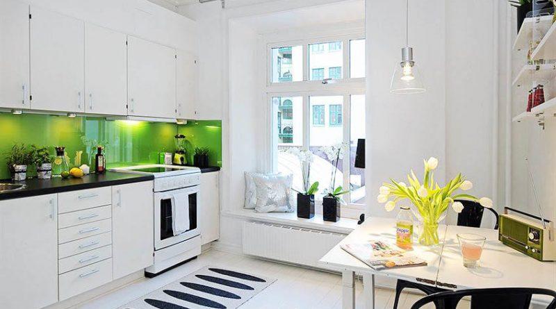 дизайн кухни в светлых тонах в современном стиле фото