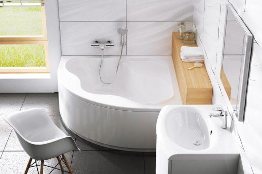 ванна угловая в интерьере фото
