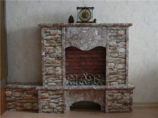 Декоративный камин своими руками пошаговая инструкция с фото