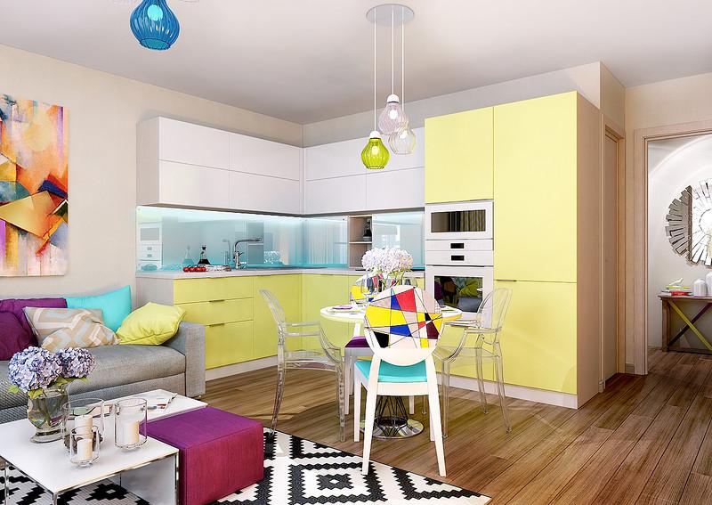 281Спальня плюс кухня дизайн