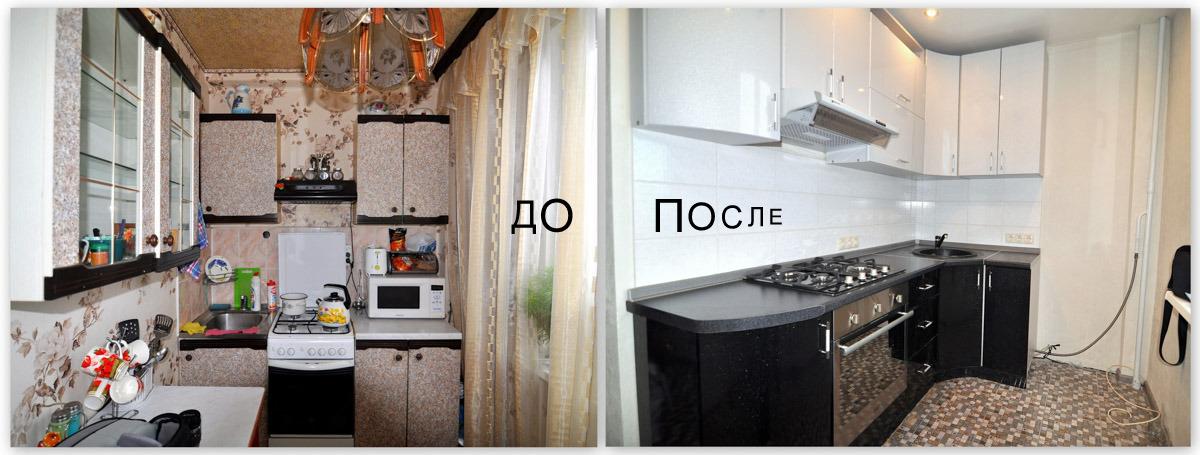 Простой ремонт кухни в хрущевке своими руками фото 63