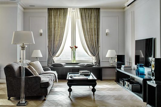 красивые шторы в гостиную фото