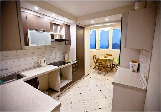 Обустройство кухни 10 кв.м с балконом