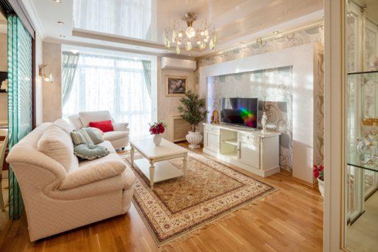 Дизайн гостинной комнаты 17 кв м  в классическом стиле фото