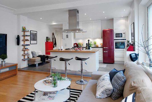 кухня и гостиная вместе дизайн фото