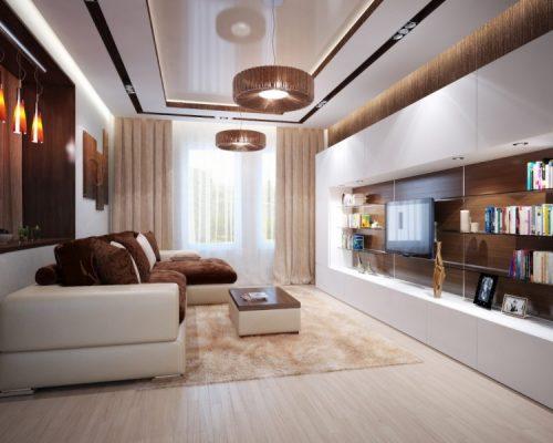 дизайн зала 18 кв м в квартире фото