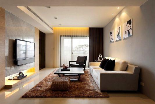 Красивый дизайн гостиной комнаты (50 фото)