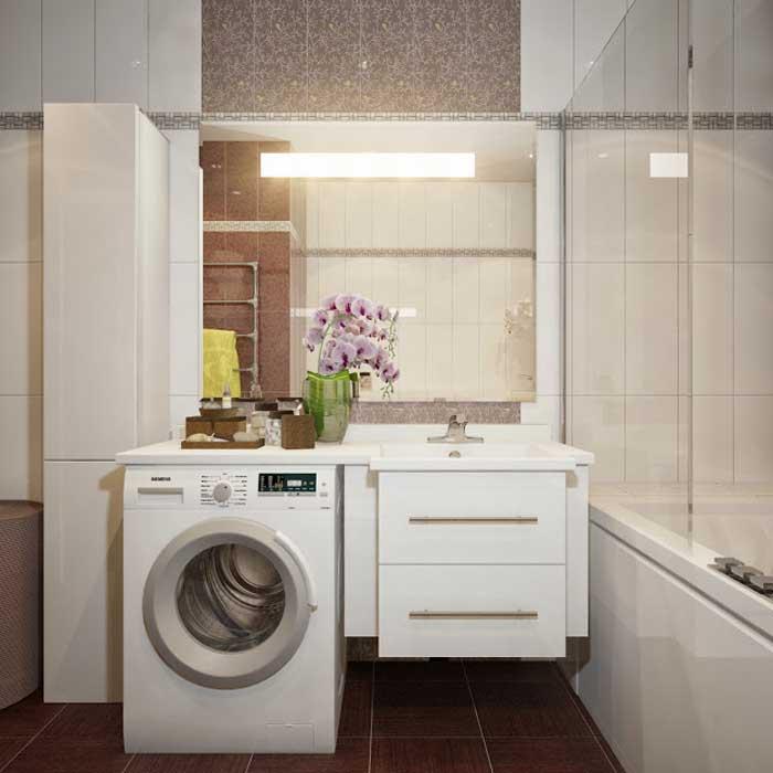 Дизайн ванной комнаты фото 6 кв м с туалетом и стиральной машиной