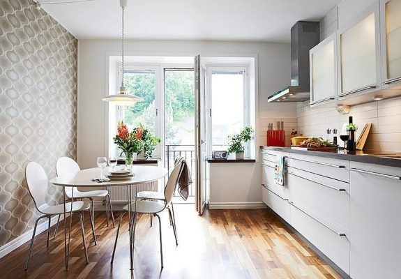 дизайн кухни 12 кв м фото новинки 2017 с выходом на балкон