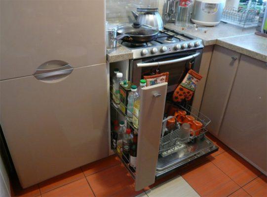 кухня 6 кв метров дизайн фото с холодильником