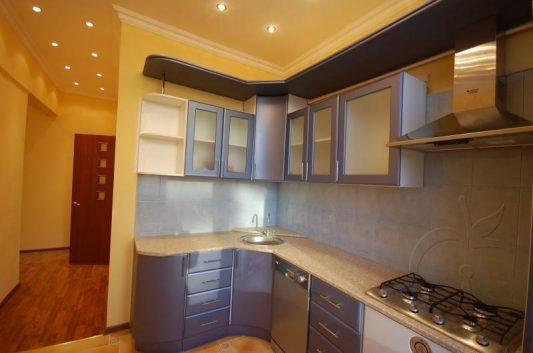 дизайн кухни 9 кв м фото в панельном доме