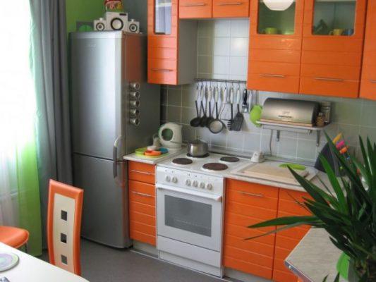 интерьер кухни 9 кв м в панельном доме фото
