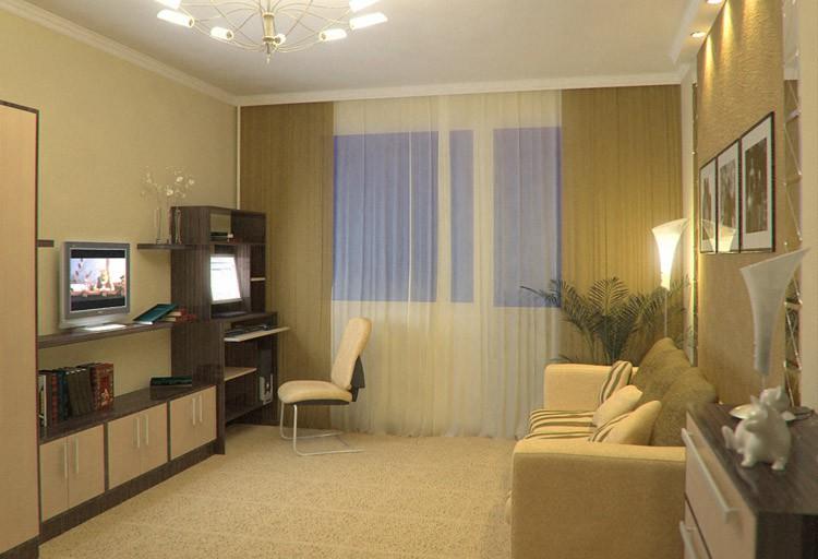 дизайн гостинной комнаты 19 кв м фото в панельном доме
