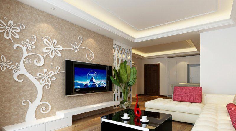 какие обои выбрать для зала чтобы комната казалась больше фото