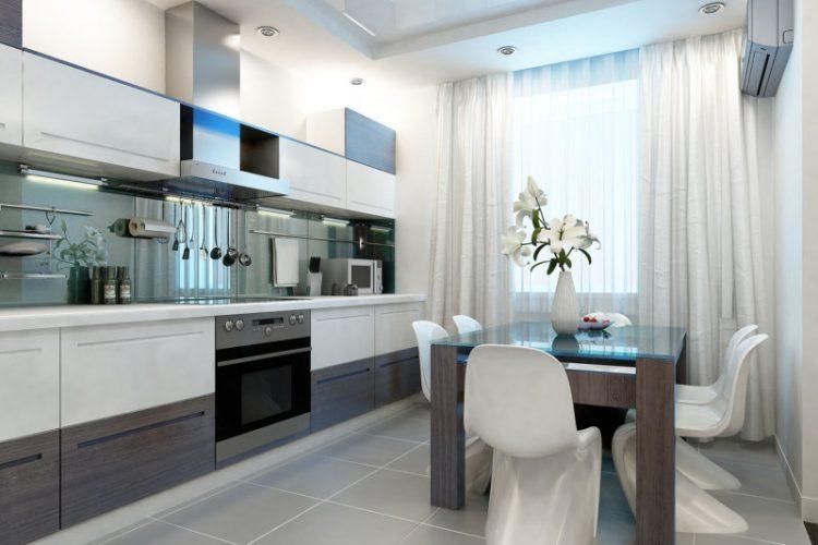 Дизайн белой кухни в современном стиле: фото